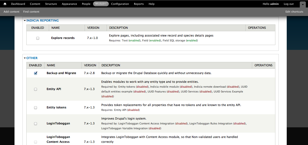 Installing the LRC Drupal Template from backup — LRC Drupal ...